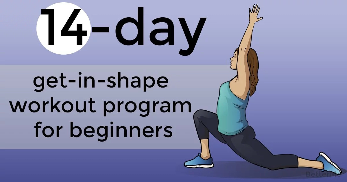 14-day get-in-shape workout program for beginners